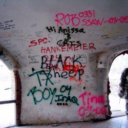 mid east - graffiti udays palace